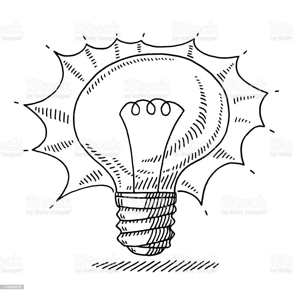 symbole de dessin ampoule id e lumineuse cliparts. Black Bedroom Furniture Sets. Home Design Ideas
