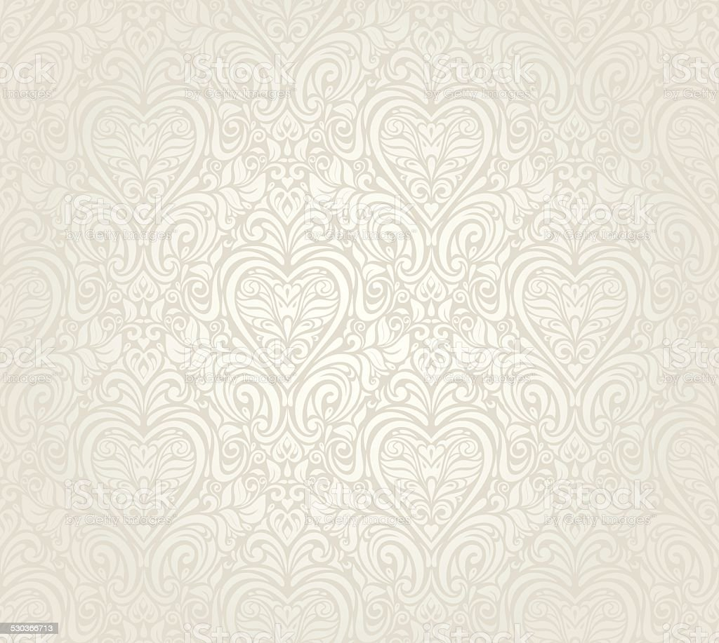 Bright luxury vintage floral seamless wallpaper  background vector art illustration