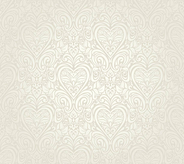 bright luxury vintage floral seamless wallpaper  background - marriage stock illustrations