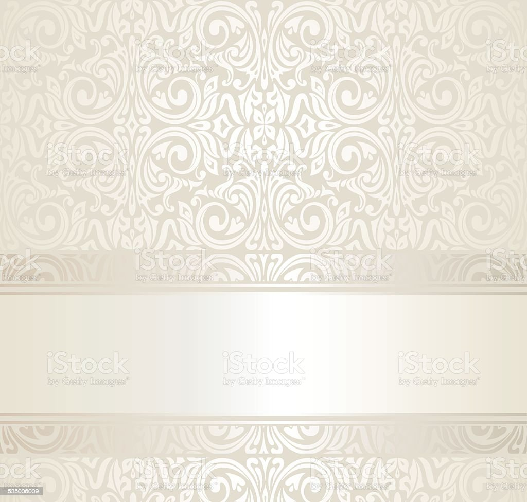 Bright Luxury Vintage Pattern Retro Wallpaper Background Royalty Free