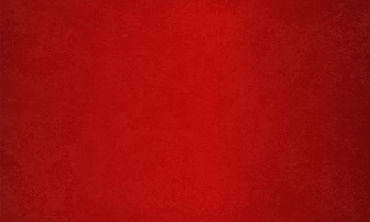 Horizontal bright deep blood red maroon coloured velvet effect wall texture Xmas vector background . Paper texture. Cracked, crumpled look.  No text, No people. Copy space. Plain. Blotched surface. Stained look.  Can be used as a wallpaper, Xmas background, gift wrapping sheet or Birthday or  New Year celebration background.Vignetting, color gradient