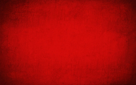 Horizontal bright deep blood red coloured cracked effect wall texture vector background . Paper texture. Cracked, crumpled look. Rectangular grunge background. No text, No people. Copy space. Plain. Blotched surface. Stained look. Paint brush stroke wall effect