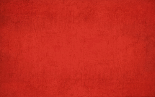 Horizontal bright deep blood red coloured crumpled paper effect wall texture vector background . Paper texture. Cracked, crumpled look. Rectangular grunge background. No text, No people. Copy space. Plain. Blotched surface. Stained look. Paint brush stroke wall effect. Can be used as a wallpaper, Xmas background, gift wrapping sheet or Birthday or  New Year celebration background.