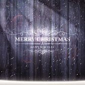 "Greeting card with ""Merry Christmas and Happy New Year"" lettering."