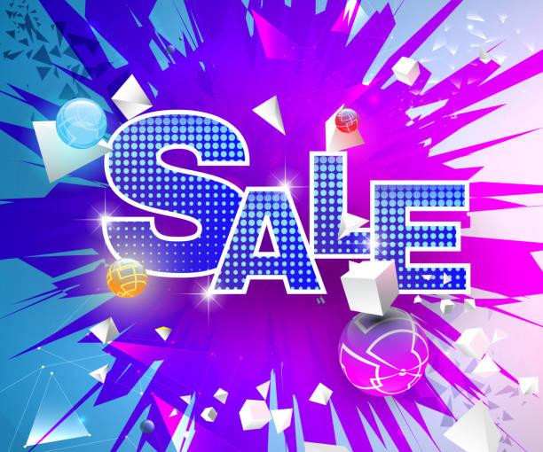 Leuchtend bunte abstrakte Verkauf Thema – Vektorgrafik