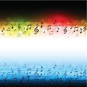 Horizontal musical design backgound. EPS10 file using transparencies
