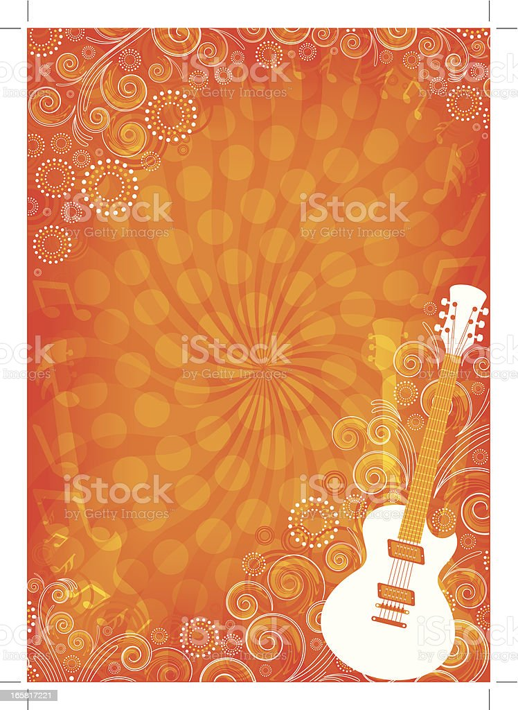 Bright Music guitar background royalty-free stock vector art