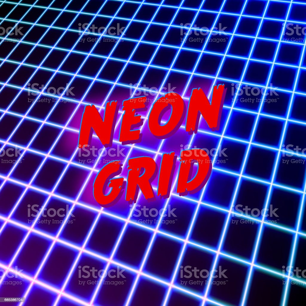 Bright neon grid lines glowing background with 80s style bright neon grid lines glowing background with 80s style - arte vetorial de stock e mais imagens de 1980 royalty-free