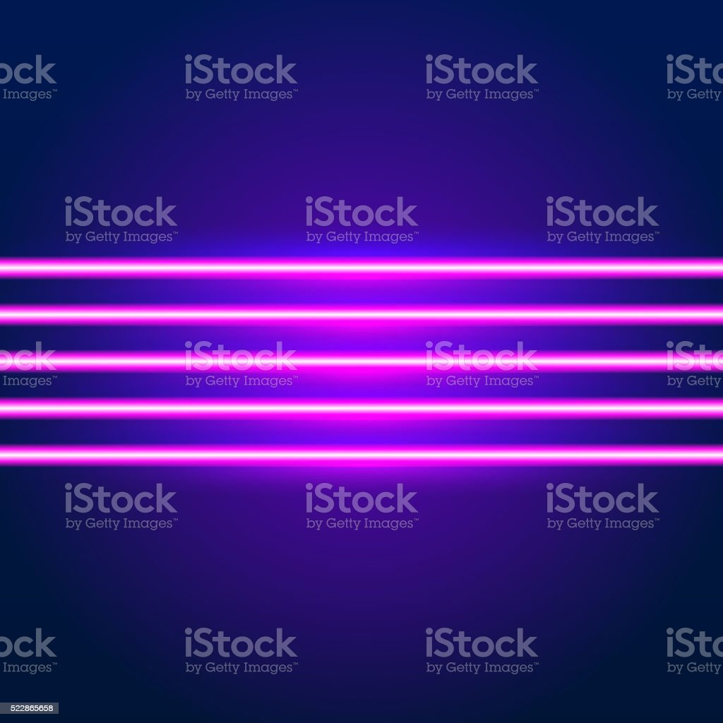 Bright neon lines background vector art illustration