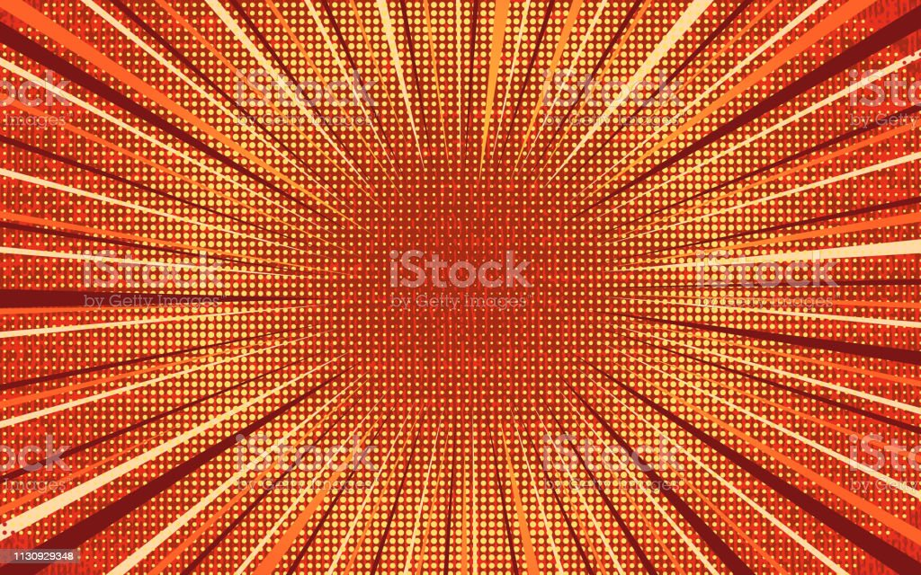 Bright Orange And Red Exploding Comic Background Stock