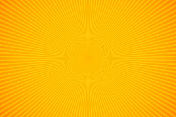 밝은 주황색과 노란 광선 벡터 배경 - 노랑 stock illustrations