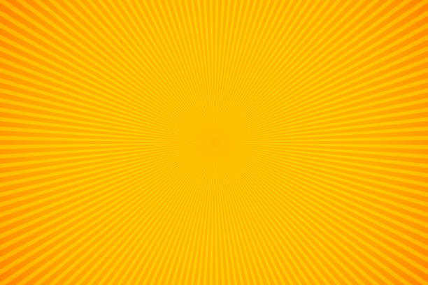 illustrazioni stock, clip art, cartoni animati e icone di tendenza di bright orange and yellow rays vector background - sfondo wallpaper