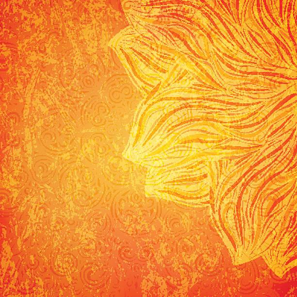 strahlend orange hintergrund - stoffmalerei stock-grafiken, -clipart, -cartoons und -symbole