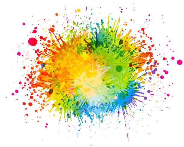 Bright paint splash illustration
