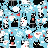 bright pattern cat lovers