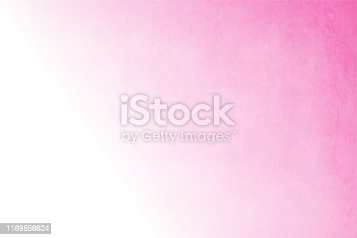 Soft pink and white coloured vector background illustration. No text. No People. Copy space. Vignetting. The left edge is white. The white merges or blends into the pink in the right creating a mystic haze.