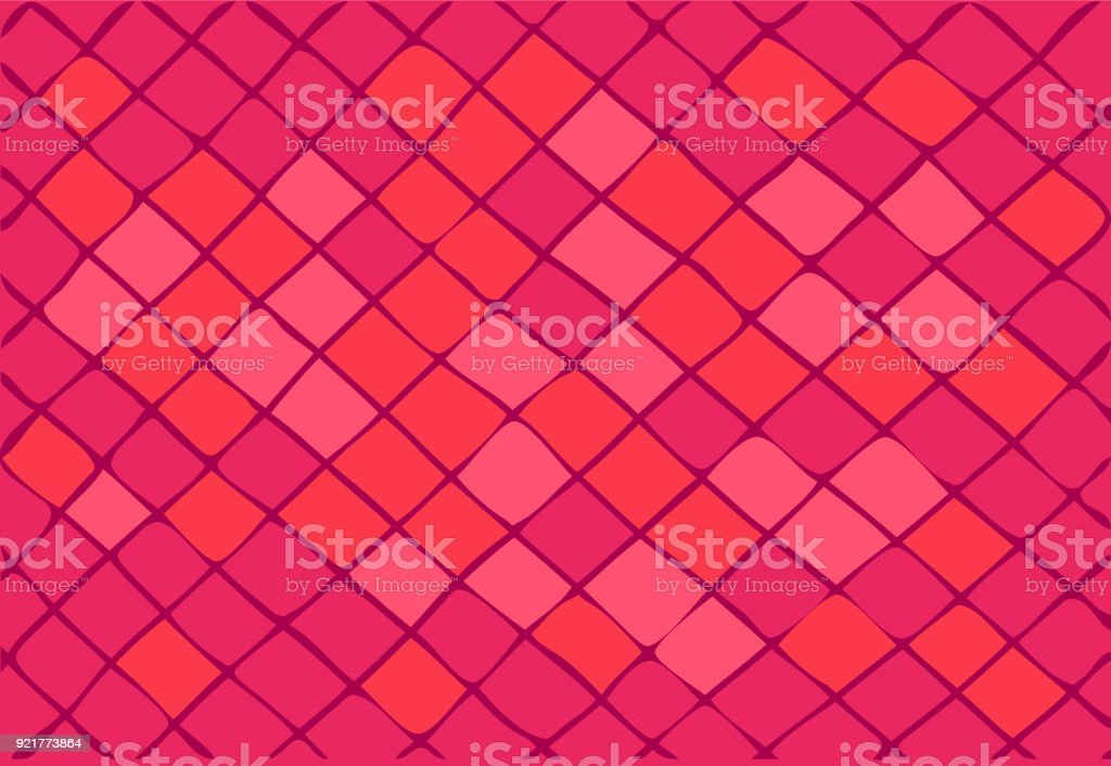 bright pink background consisting of squares and rhombuses.