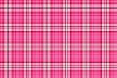 Bright pink seamless tartan