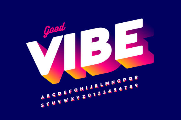 Bright positive style font