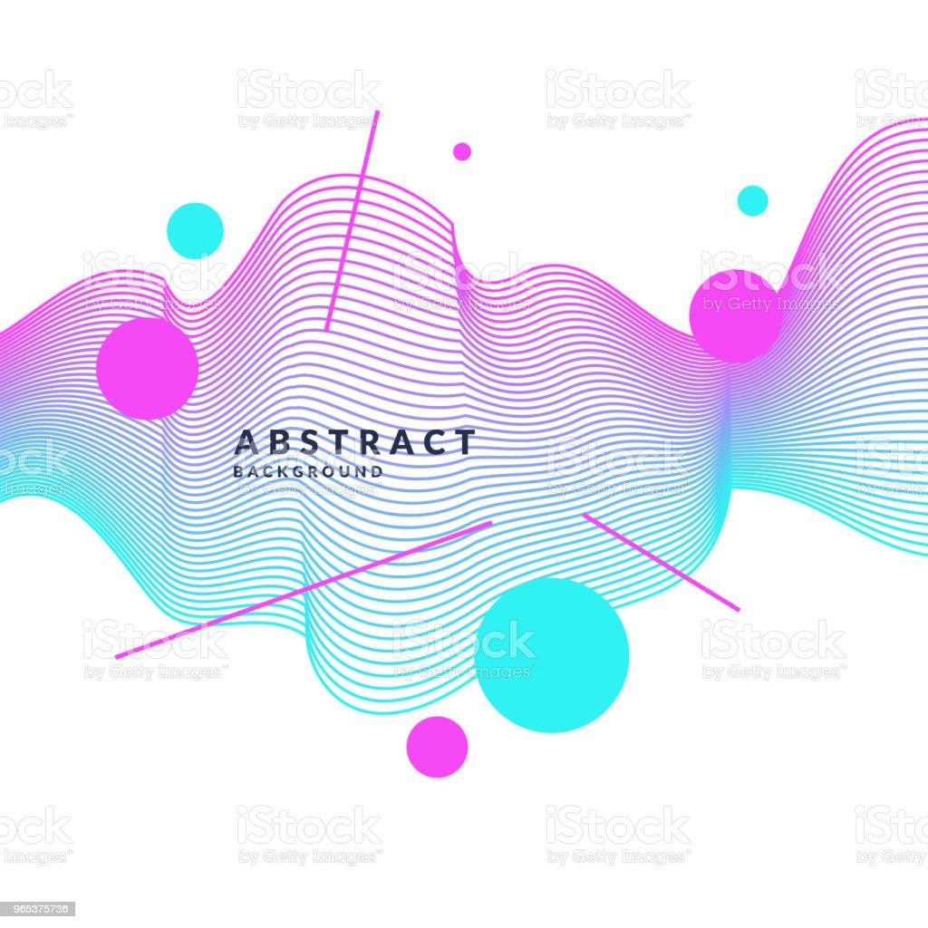 Affiche lumineuse avec des vagues dynamiques. Style plat minimal illustration - clipart vectoriel de A la mode libre de droits