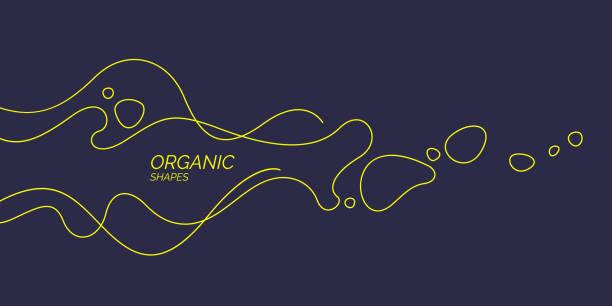ilustrações de stock, clip art, desenhos animados e ícones de bright poster with dynamic waves. vector illustration. abstract background. - amiba
