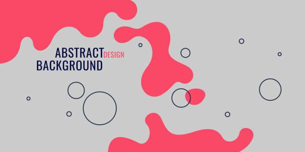 ilustrações de stock, clip art, desenhos animados e ícones de bright poster with dynamic waves. vector illustration in minimal style - líquido
