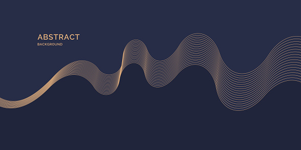 Bright poster with dynamic waves. Vector illustration