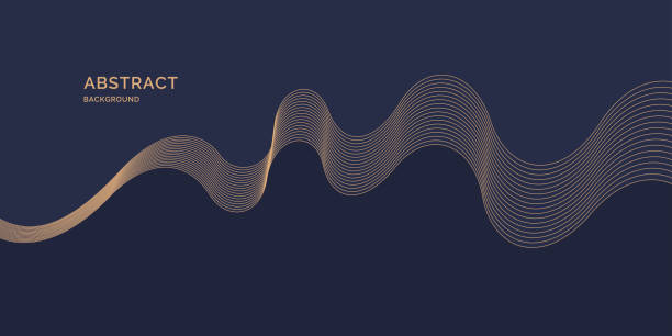 Bright poster with dynamic waves. Vector illustration Bright poster with dynamic waves. Vector illustration minimal flat style single line stock illustrations