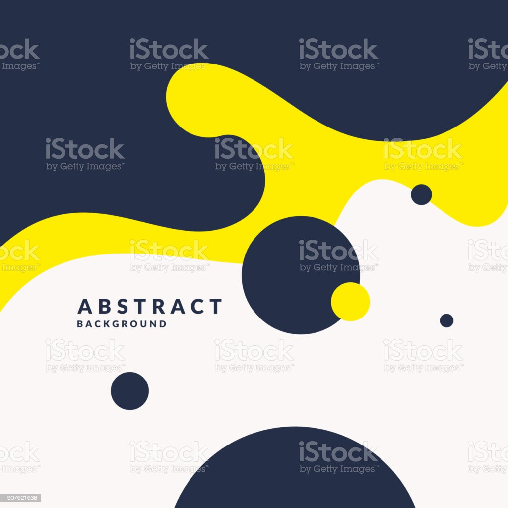 Bright poster with splatter. Illustration minimal flat style vector art illustration