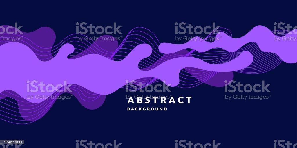 Bright poster with splatter. Illustration minimal flat style vector art illustration