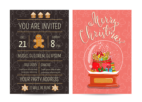 Bright Promotion Flyer for Club Christmas Party