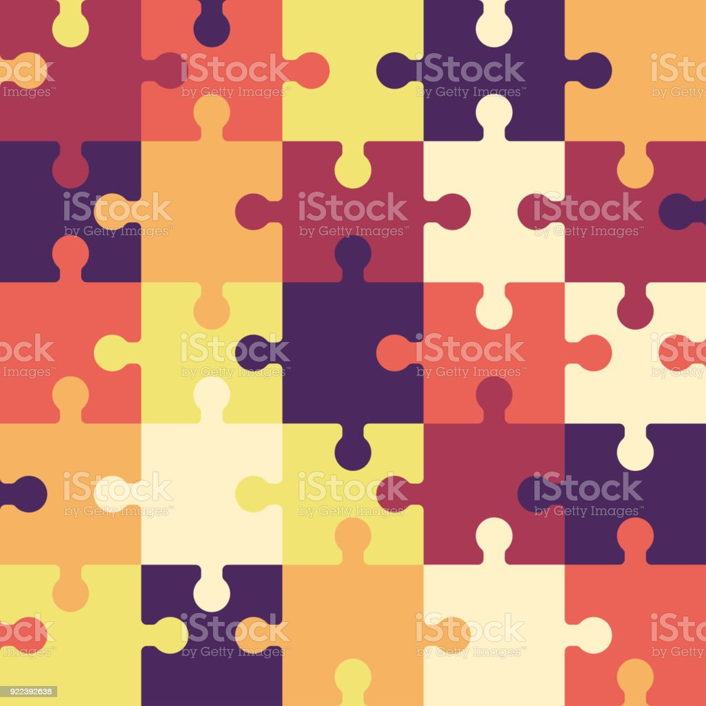 Bright puzzle seamless background or pattern. vector art illustration