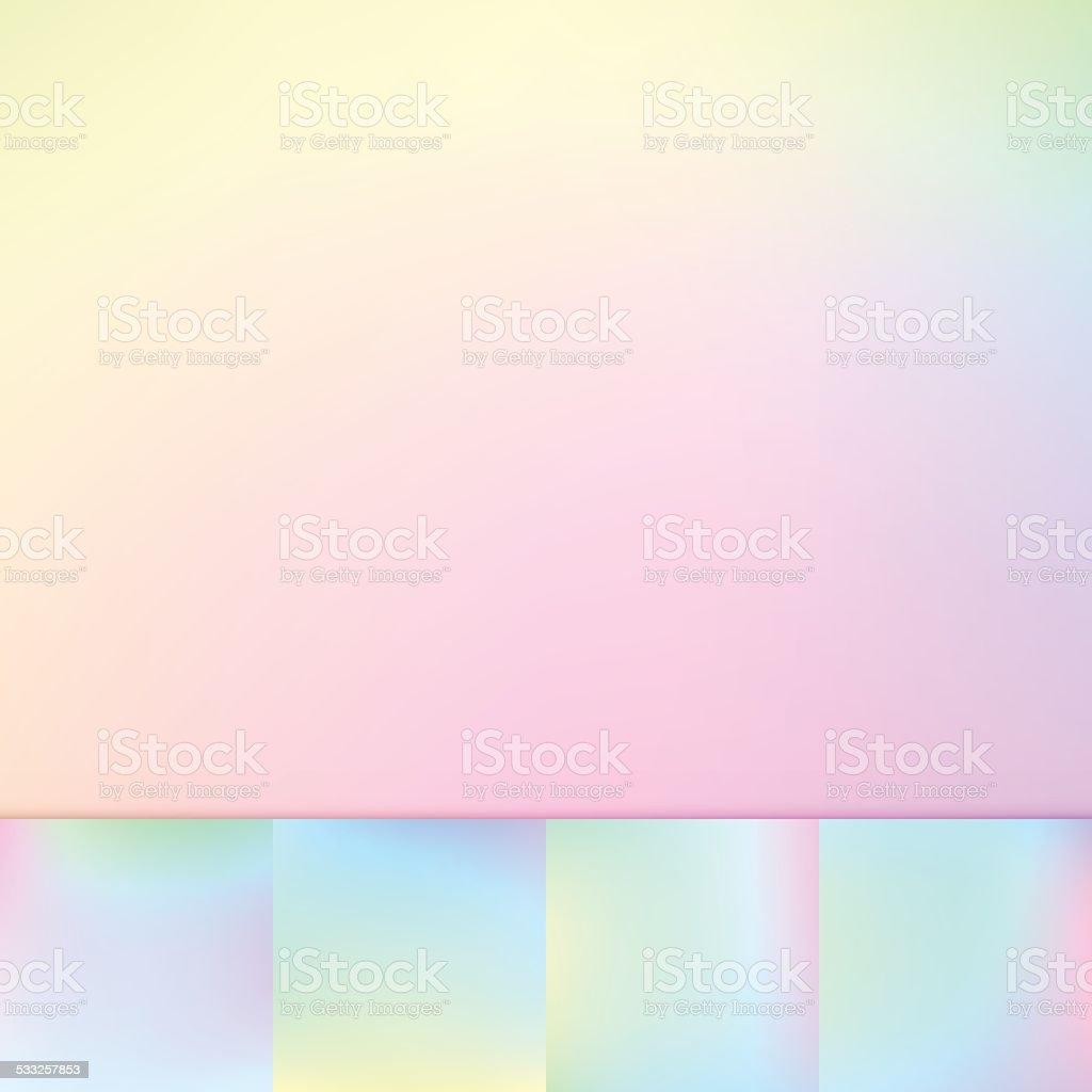 Bright Rainbow Defocus Multi Color Gradient Stock Vector Background Collection vector art illustration