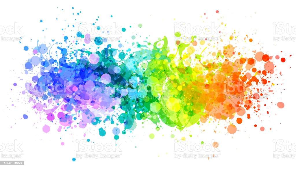 Leuchtenden Regenbogen Farbe Splash Vektor – Vektorgrafik