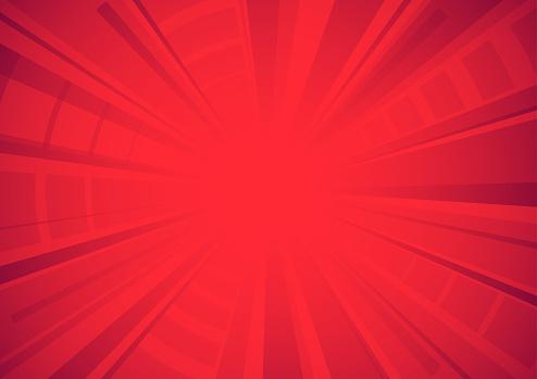 Bright red comic star burst background