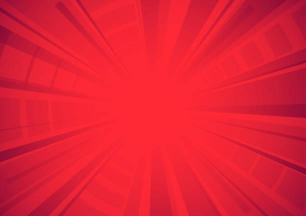 Bright red comic star burst background vector art illustration