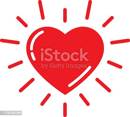 istock Bright Red Heart Icon 1125262289