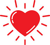 Bright Red Heart Icon