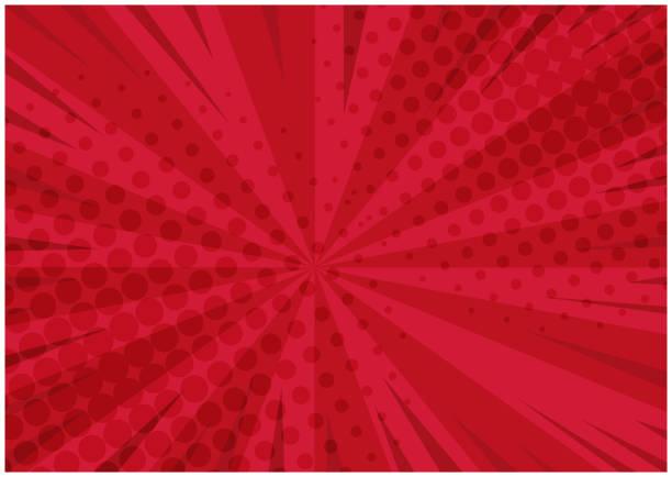 明亮的紅色復古喜劇背景 - 宏偉的 幅插畫檔、美工圖案、卡通及圖標