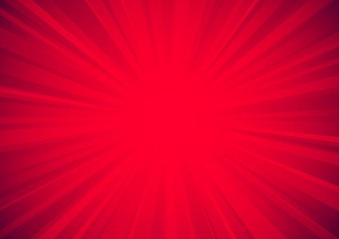red exploding starburst textured surface background vector illustration