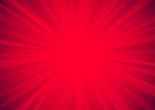 Bright red star burst background vector art illustration