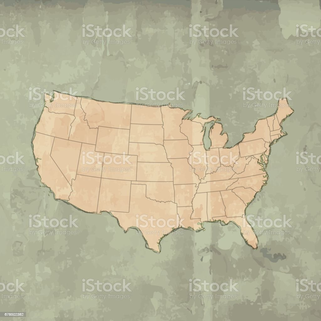 Usa bright retro grunge map on wooden background stock vector art globe navigational equipment map wood material world map germany gumiabroncs Images