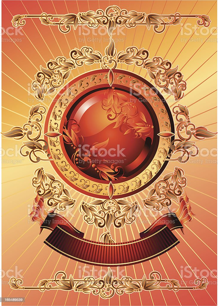 Bright retro II royalty-free stock vector art