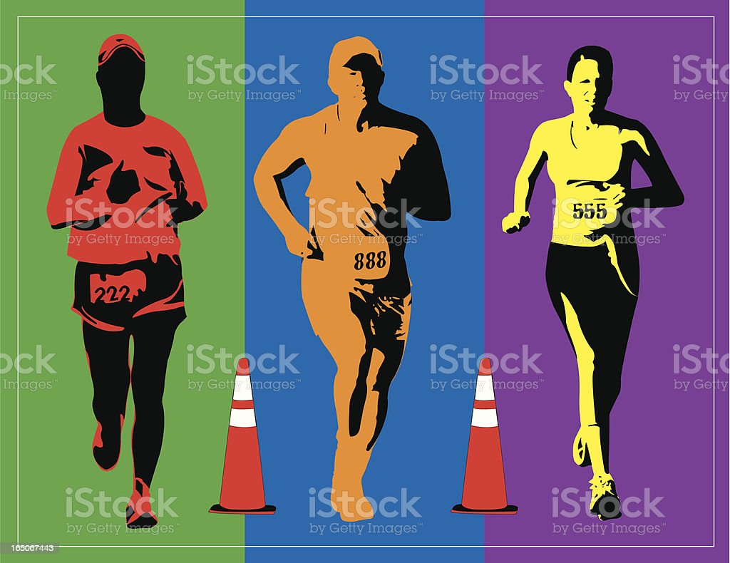 Bright Runners royalty-free bright runners stock vector art & more images of adult