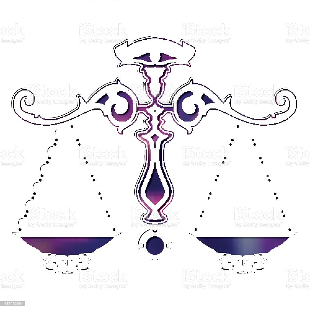 Bright Scales Zodiac Libra Sign Stock Vector Art More Images Of