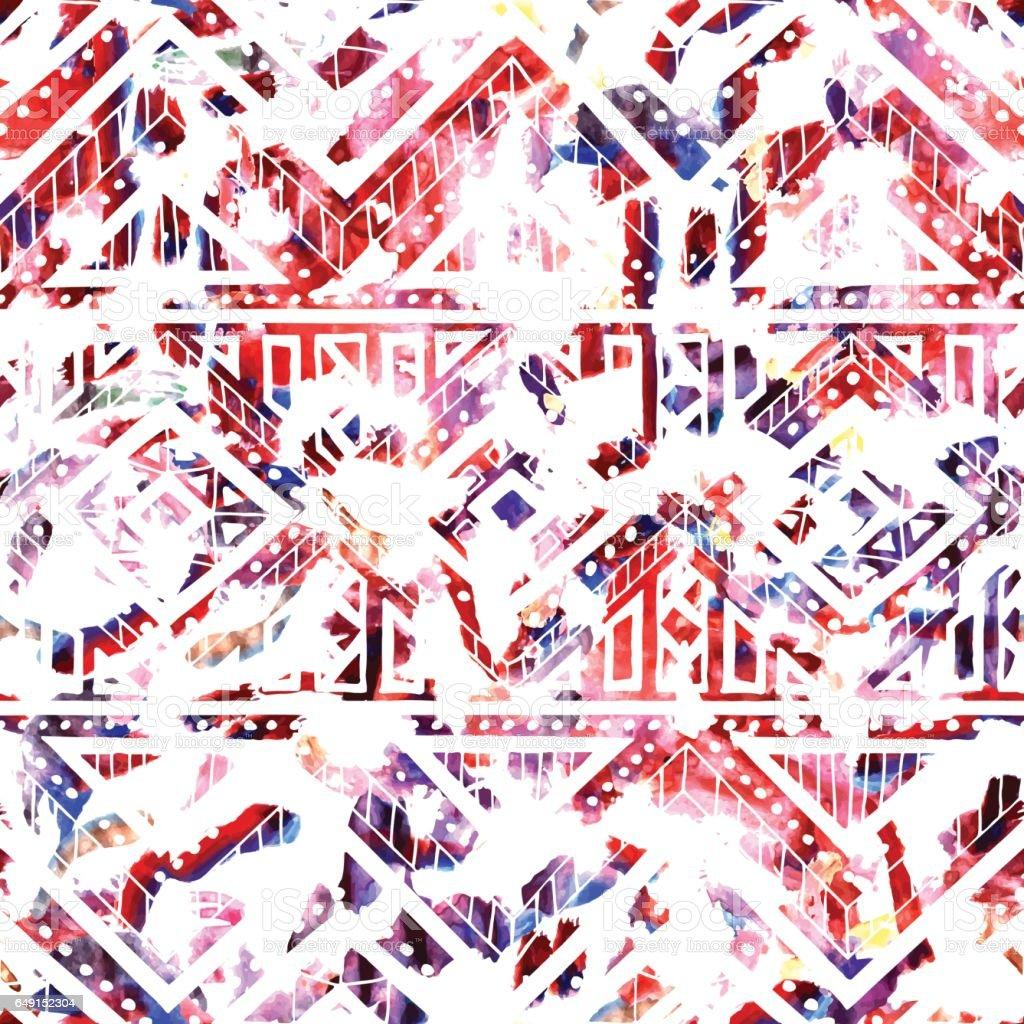 Bright seamless pattern. Watercolor texture. vector art illustration