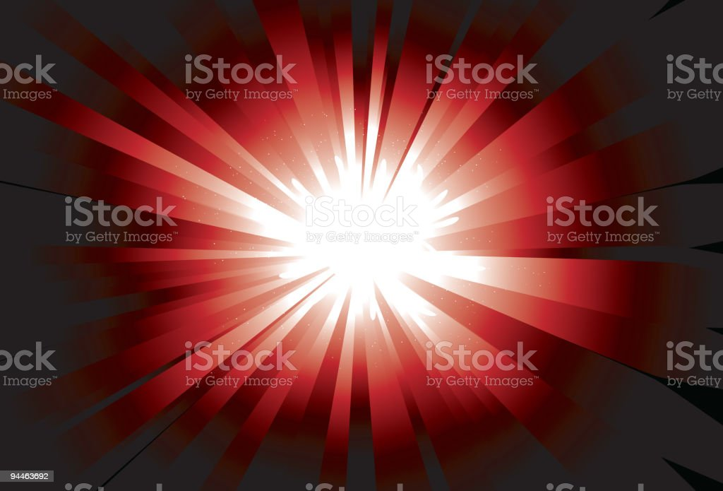 Bright Shinning Red Background royalty-free bright shinning red background stock vector art & more images of backgrounds