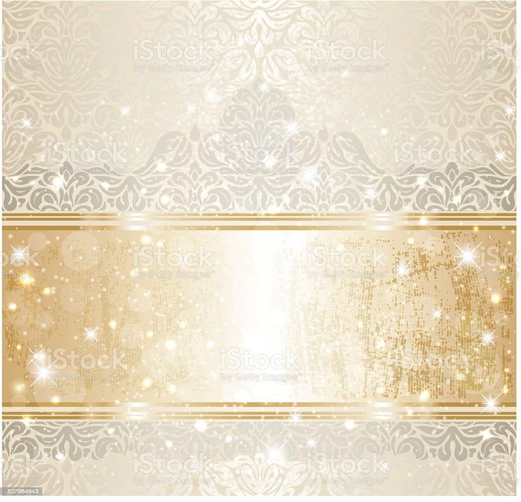 Bright Shiny Luxury Wedding Vintage Invitation Pattern ...