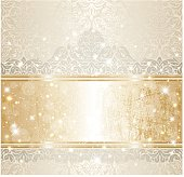 Bright shiny luxury wedding vintage invitation pattern background