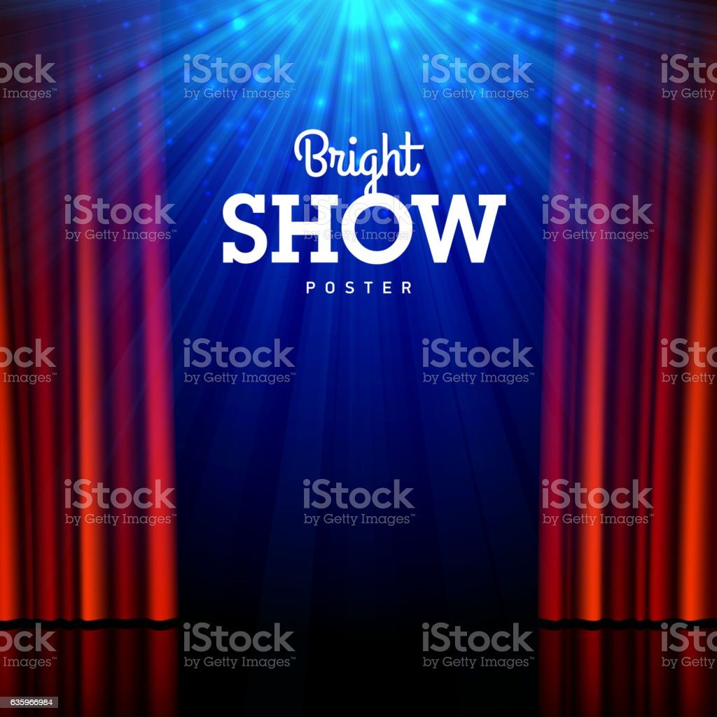 Bright show poster design template vector art illustration